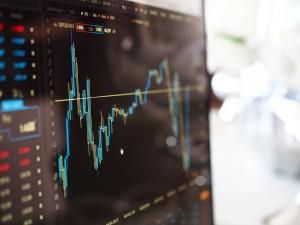 gráfica bursátil del mercado de valores