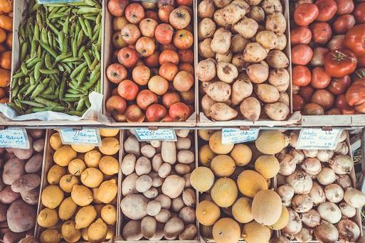 Frutas y verduras de canal de distribución