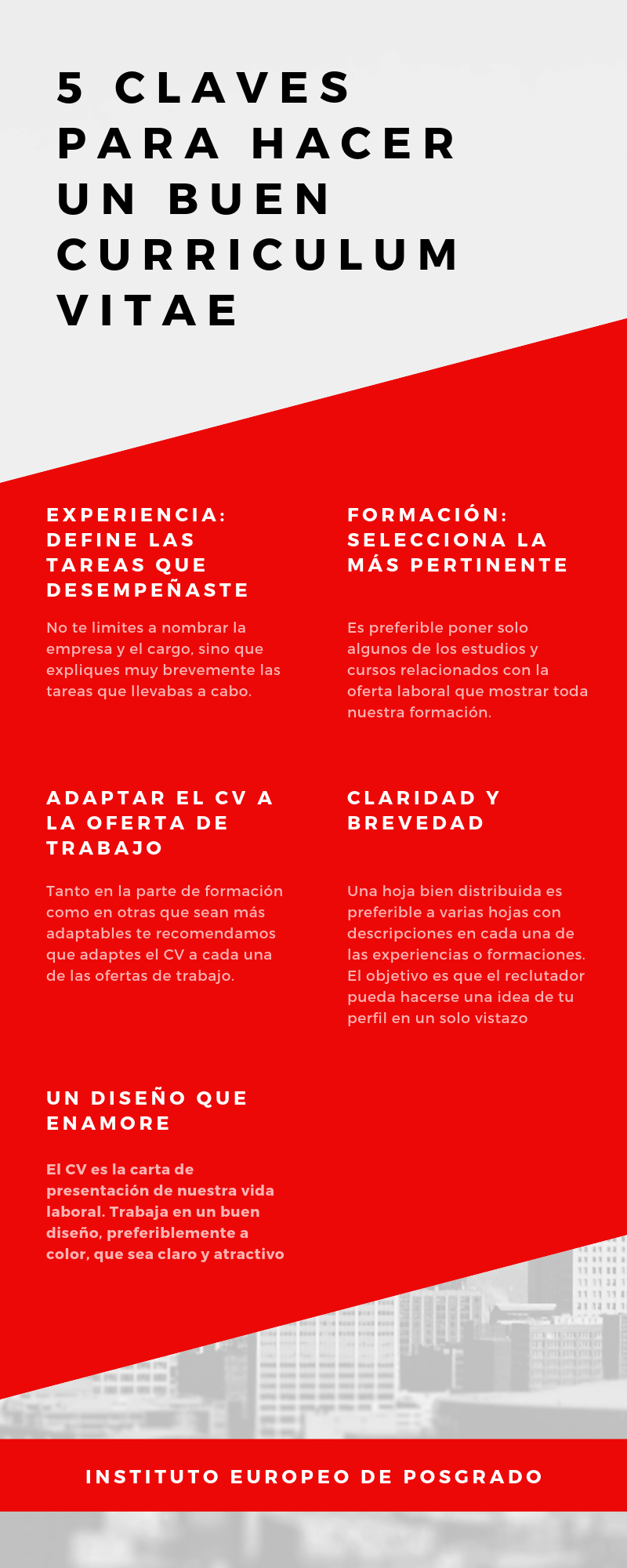 5 claves hacer un CV