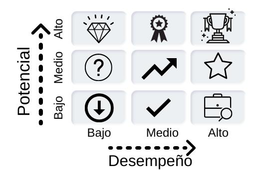 Matriz de administración de talento humano de las 9 cajas